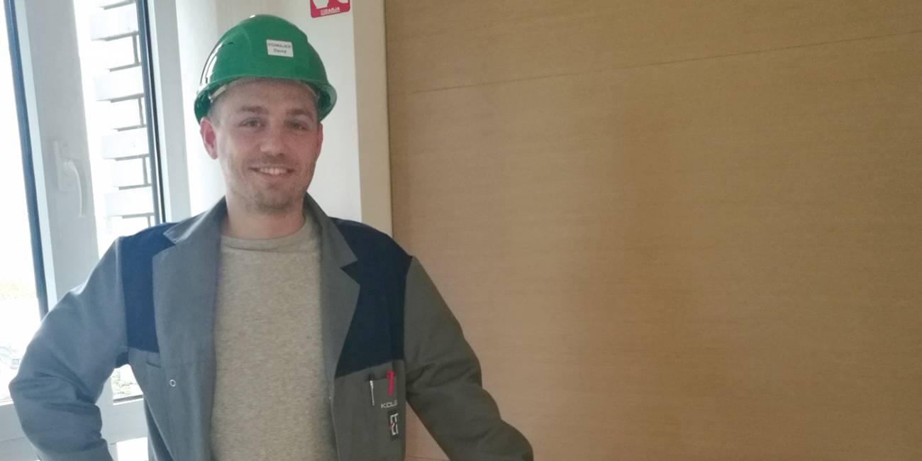 David, študent elektroenergetike, štipendist koncerna Kolektor