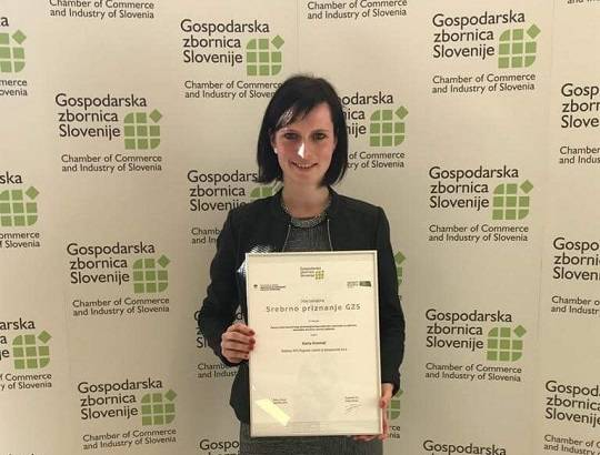 Karla Kosmač received the silver innovation award