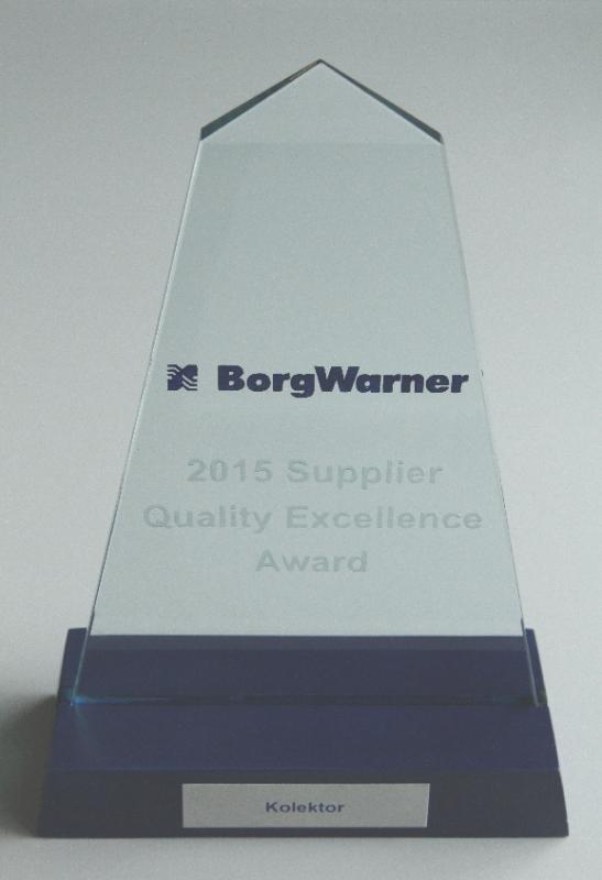 Kolektor od BorgWarnerja prejel elitno nagrado za najboljšega dobavitelja
