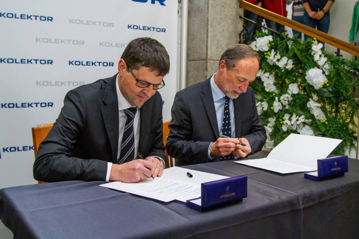 Koncern Kolektor in Gimnazija Jurija Vege Idrija sta podpisala pogodbo o donaciji
