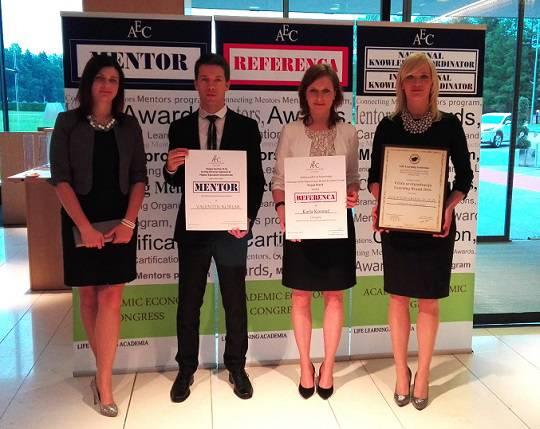 Life Learning Academia podelila priznanja Referenca in Mentor ter certifikat Učeča se organizacija