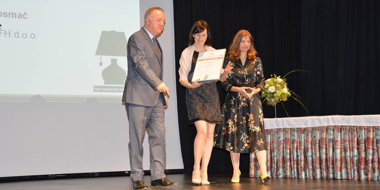 Karla Kosmač za svojo inovacijo prejela zlato priznanje