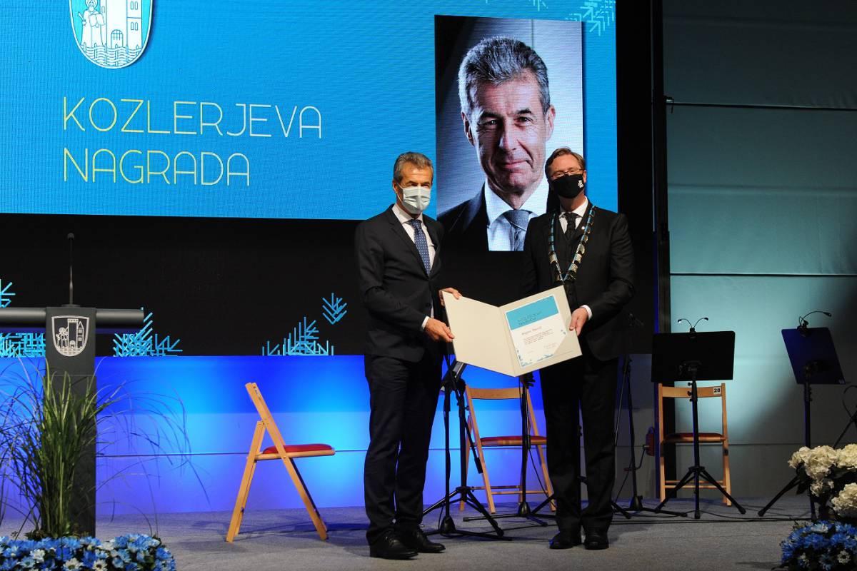 Stojan Petrič, recipient of the Kozler Award