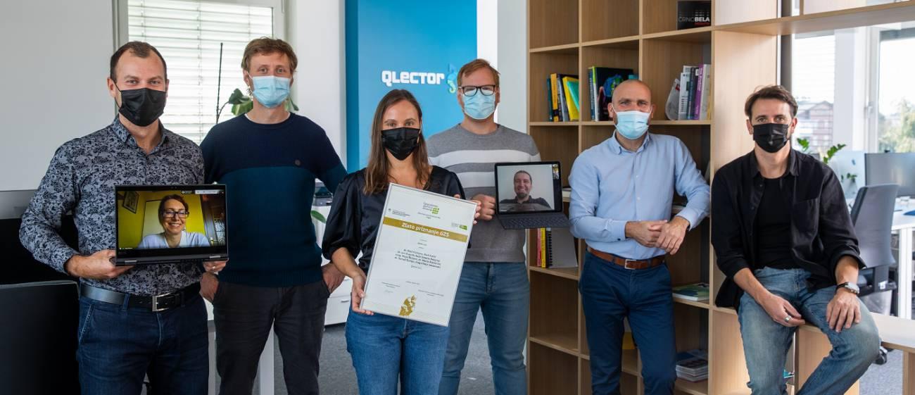 Zlato priznanje za aplikacijo Qlector LEAP s katero bo Kolektor sodeloval tudi na nacionalnem izboru za najboljše inovacije v državi