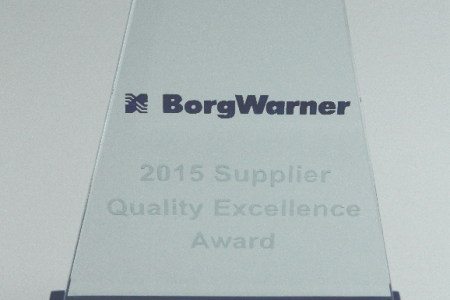 Kolektor received Supplier Quality Excellence Award from BorgWarner