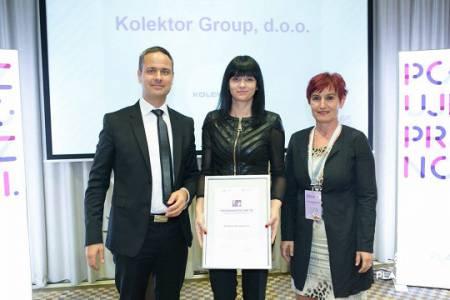 Kolektor Group prejemnik priznanja TOP 10 Izobraževalni management